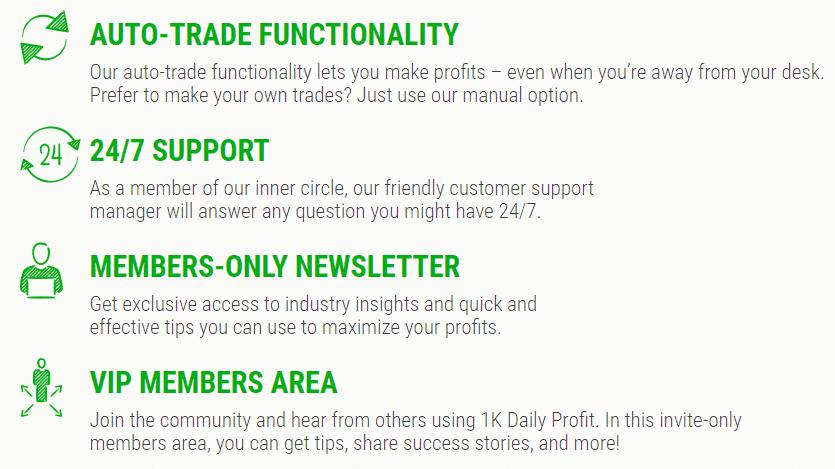 1K Daily Profit Reviews - Features